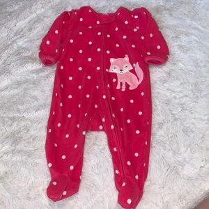 Carter's fuzzy onesie (2 for $10)